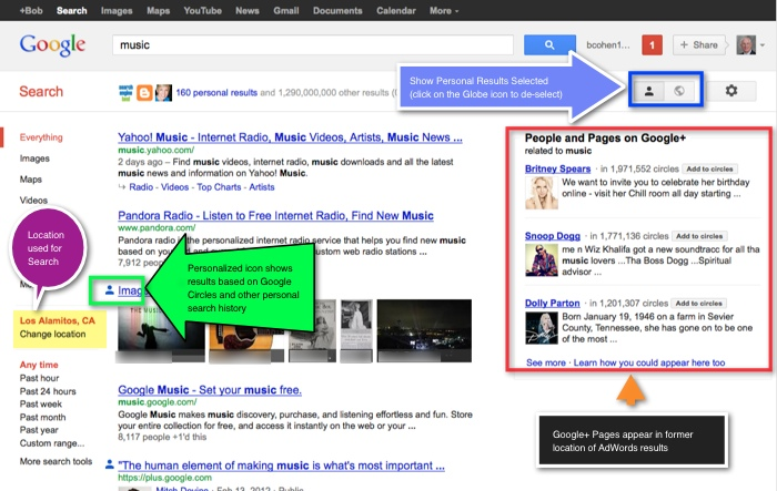 Google+ with Social Search